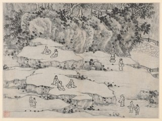 Twelve Views of Tiger Hill, Suzhou: The Nodding Stone Terrace, Tiger Hill, and the Thousand-Man Seat