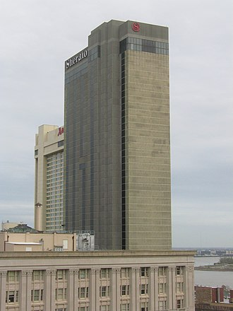 Sheraton New Orleans - Sheraton New Orleans from Hilton New Orleans skydeck
