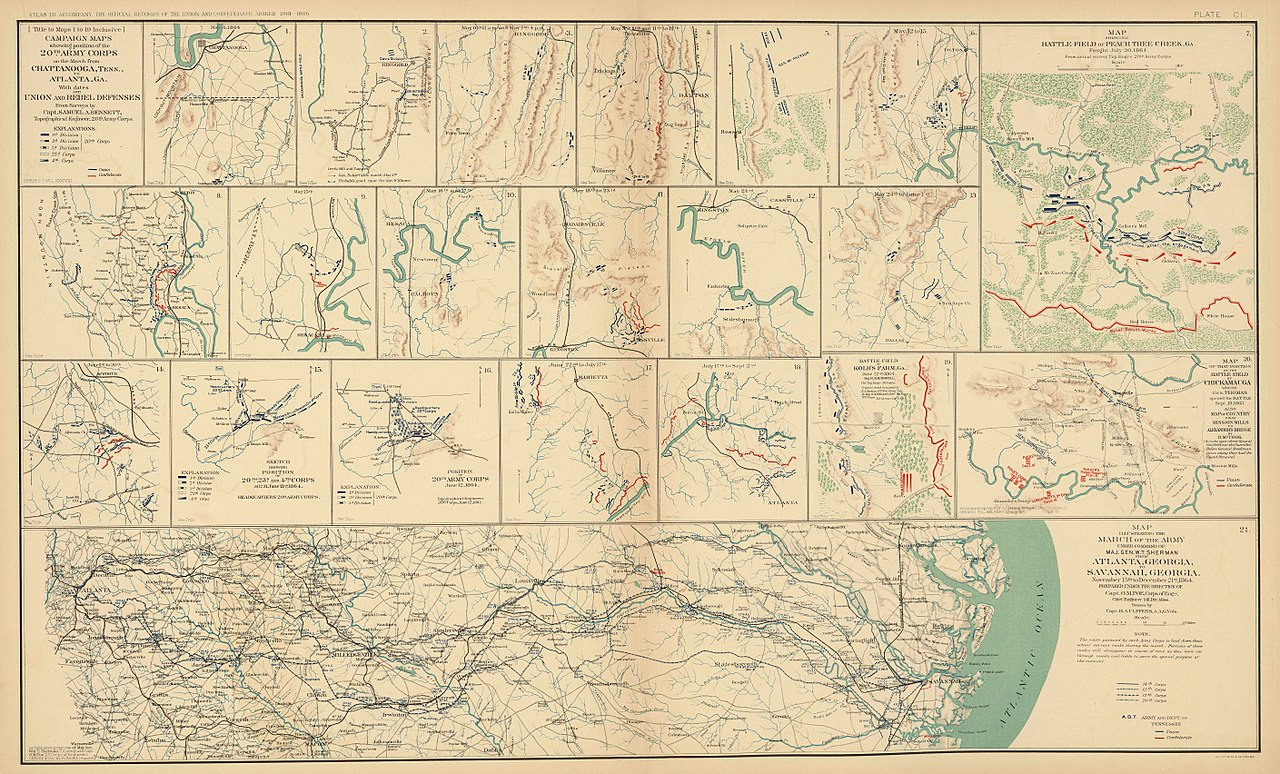 File:Sherman's march to the sea MAP.jpg - Wikimedia Commons on atlanta campaign map, george b. mcclellan, confederate states of america, bleeding kansas map, pickett's charge map, battle of fredericksburg map, battle of antietam map, james longstreet, gettysburg campaign map, american civil war, battle of perryville map, battle of nashville map, battle of atlanta map, jefferson davis, vicksburg campaign map, anaconda plan map, battle of shiloh, battle of fort sumter, fort sumter map, philip sheridan, appomattox court house map, battle of resaca map, george meade, battle of gettysburg, ambrose burnside, george armstrong custer, morgan's raid map, battle of vicksburg, ulysses s. grant, battle of antietam, stonewall jackson, robert e. lee, second battle of bull run map, chattanooga campaign map, battle of olustee map, american civil war map, first battle of bull run, george pickett,