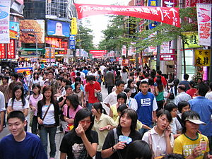 Wanhua District - Ximending is a popular shopping district for young people.