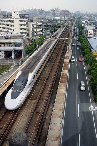 Hakata-Minami Line - 700-7000 series set on the Hakata-Minami Line, June 2004