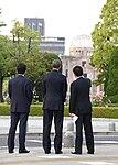 Shinzo Abe Barack Obama and Fumio Kishida 20160527.jpg