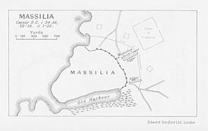 Siege of Massilia - Map of the siege