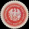 Siegelmarke Bürgermeisteramt Roetgen Kreis Montjoie W0384135.jpg