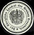 Siegelmarke Der K. Landrat des Kreises Bad Kreuznach W0227961.jpg