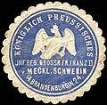 Siegelmarke Königlich Preussisches Infanterie Regiment Grossherzog Friedrich Franz II. von Mecklenburg - Schwerin (4. Brandenburgisches) No. 24 W0238012.jpg