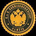 Siegelmarke K. u. K. Garnisonsgericht - Olmütz W0301377.jpg