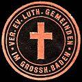 Siegelmarke Ver. Ev. Luth. Gemeinden im Grossherzogtum Baden W0225299.jpg