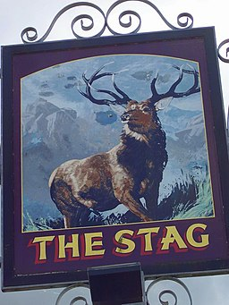 Sign for the Stag, Charlton All Saints - geograph.org.uk - 688570