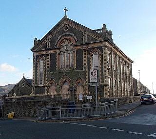 New Siloh Congregational Chapel chapel in Landore, Swansea, Wales