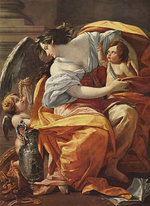 Simon Vouet - Vouet's allegory La Richesse was painted about 1640, possibly for one of the royal chateaux of France (Louvre)
