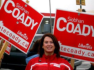 Siobhán Coady - Coady campaigning during the 2008 election