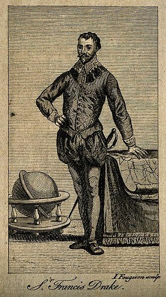 Ignace Fougeron - Image: Sir Francis Drake. Line engraving by J. Fougeron. Wellcome V0001664
