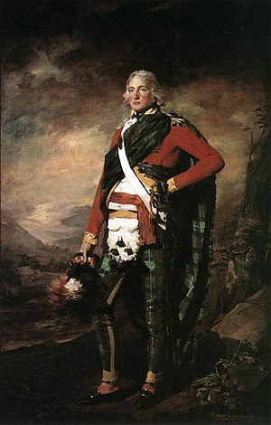 Highland Fencible Corps - Sir John Sinclair, 1st Baronet, 1795, attired in the uniform of the Caithness Fencibles.