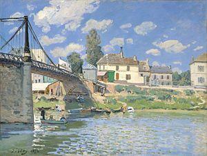 Villeneuve-la-Garenne - Bridge at Villeneuve-la-Garenne by Alfred Sisley