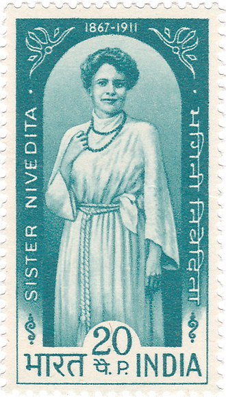 Sister Nivedita - Sister Nivedita on a 1968 stamp of India