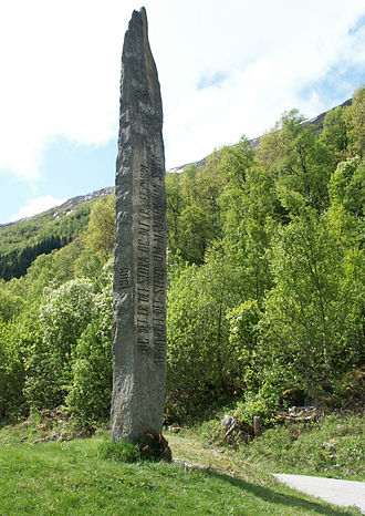 Battle of Stiklestad - Memorial in Stalheim