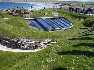 Covered house 7 of Skara Brae.