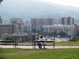 Centar Municipality, Macedonia - Centar Municipality, view from Skopje Fortress