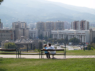 Centar Municipality, North Macedonia - Centar Municipality, view from Skopje Fortress