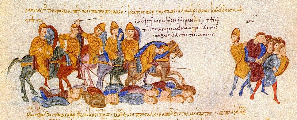 Skylitzes-Ouranos kills Bulgarians