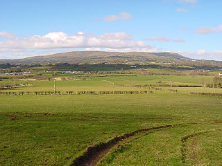 Slieve Gallion mountain in Northern Ireland