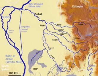Kangen River - Sobat River basin
