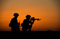 Soldiers of 2 Royal Anglian Silhouetted in Afghanistan MOD 45157880.jpg