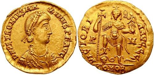 Solidus Petronius Maximus-RIC 2201