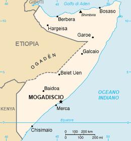 Somalia - Mappa