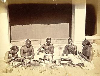 Sunar - Sunar goldsmiths in Cuttack in 1873