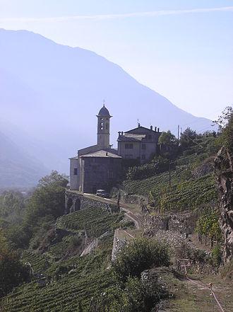 Sondrio - Madonna della Sassella, a nearby sanctuary.