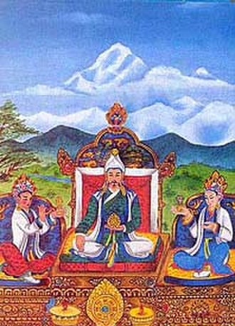 Sino-Tibetan relations during the Tang dynasty - Emperor Songtsen Gampo with Princesses Wen Cheng and Bhrikuti Devi