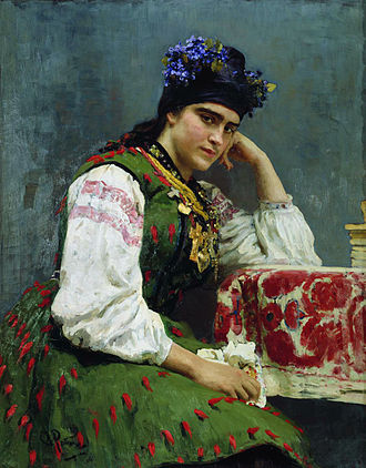 Mikhail Dragomirov - The portrait of Dragomirov's daughter Sofia, by Ilya Repin