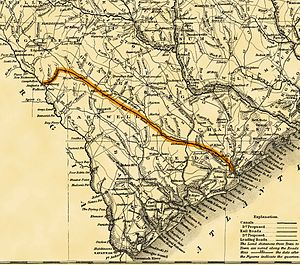 South Carolina Canal and Railroad Company - Image: South Carolina RR Road Map 1833