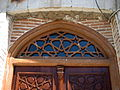 South portal of Golshan Hawza - Wooden New door - Nishapur 2.JPG