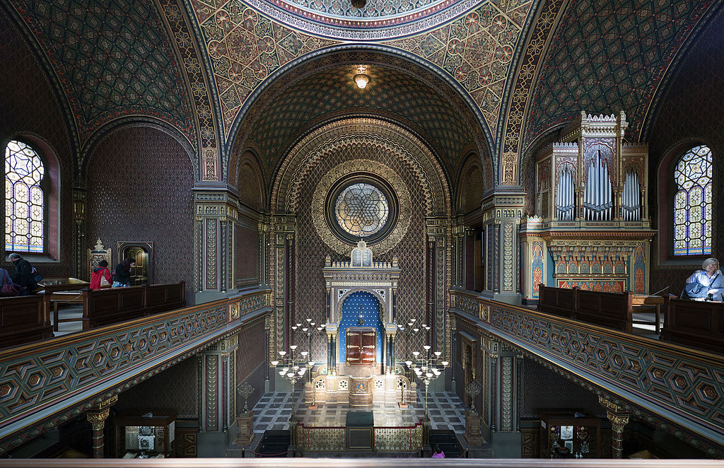 Intérieur de la Synagogue Espagnole de Prague. Photo de Thomas Ledl