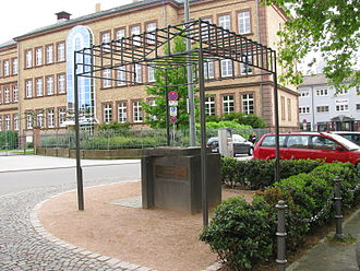 History of the Jews in Speyer - Monument commemorating the deported Jews of Speyer at the site of the former synagogue