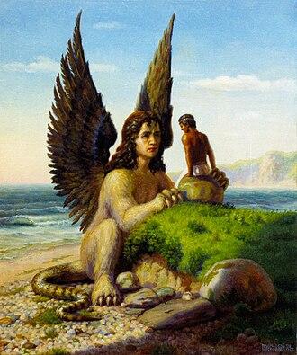 Feminist views on the Oedipus complex - Image: Sphinx & Oedipus