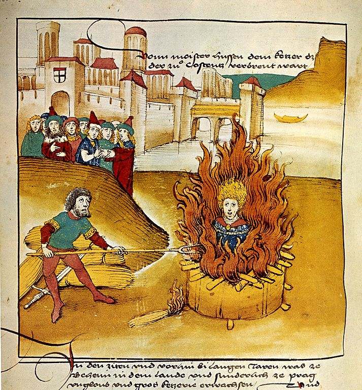 Le théologien tchèque Jan Hus brule pour ces idées réformistes à Constance en 1415.
