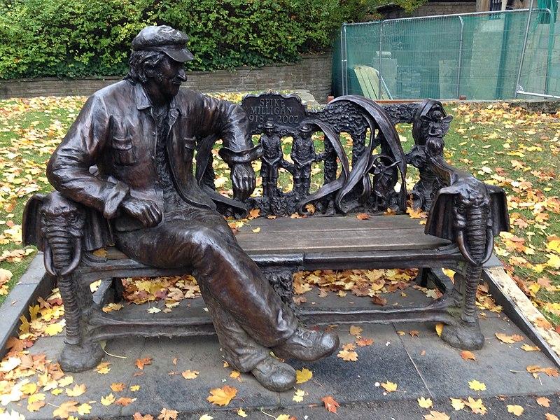 File:Spike Milligan memorial bench.jpg