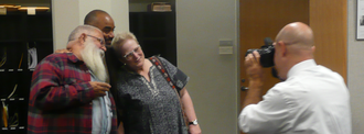 Eve Kosofsky Sedgwick - (L-R) Samuel R. Delany, Robert Reid-Pharr, and Eve Sedgwick pose for a picture