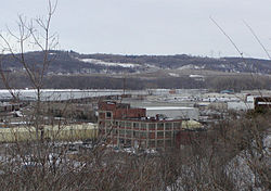 View across the industrial neighborhood by the Mississippi River