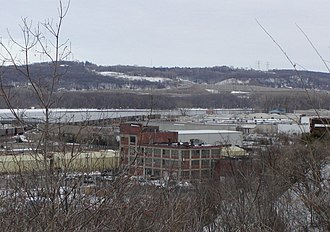 South St. Paul, Minnesota - View across the industrial neighborhood by the Mississippi River
