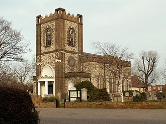 St Peter and St Paul, Dagenham - Image: St. Peter and St. Paul's church geograph.org.uk 338393