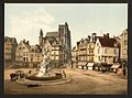 St. Vulfran and square of Admiral Courbet, Abbeville, France-LCCN2001697544.jpg