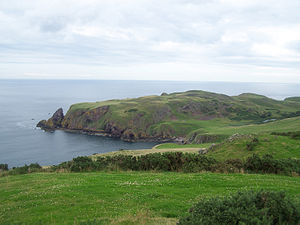 St Abb's Head - The head seen from the NW, from the cliffs above Pettico Wick Bay.