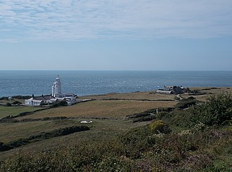 St. Catherine's Lighthouse - View of the lighthouse, looking south west out to the English Channel