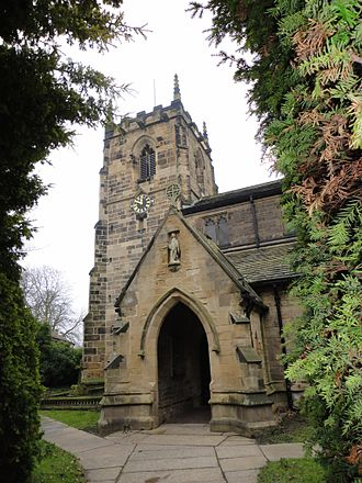 Ackworth, West Yorkshire - The Church of St. Cuthbert in the centre of High Ackworth