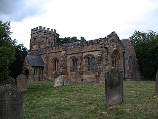 St Martins Church, Whenby Church in North Yorkshire, England